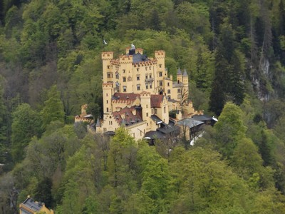 View of Hohenschwangu from Neuschwanstein