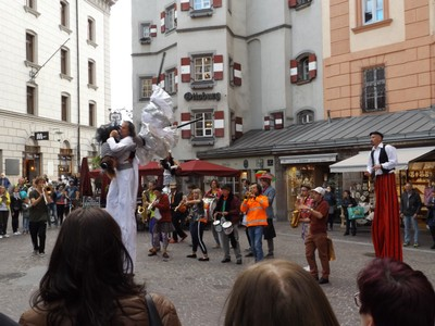 stilt dancers
