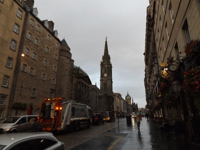 Edinburgh in the morning rain