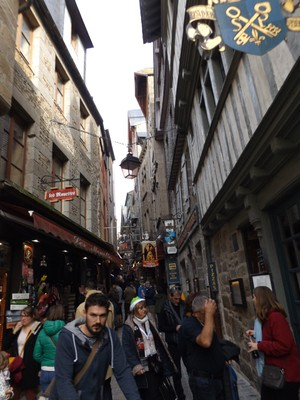 streets of Mont St. Michel