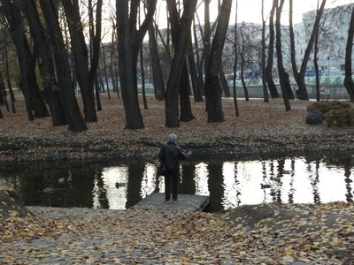 guy fishing in the park