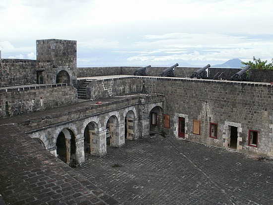 On top of fortress