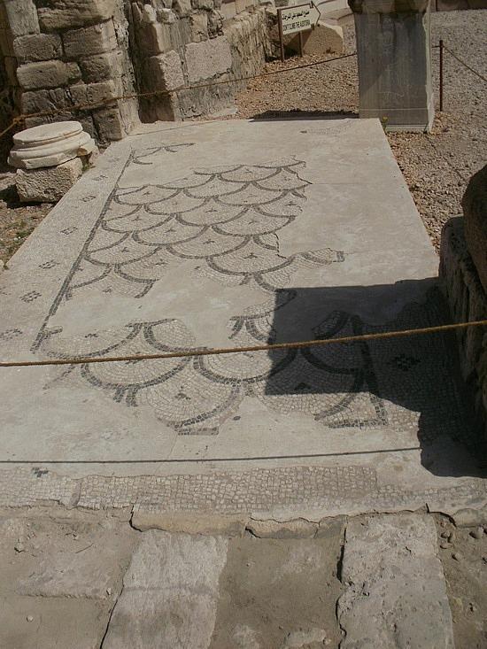 Ampitheater mosaic floor