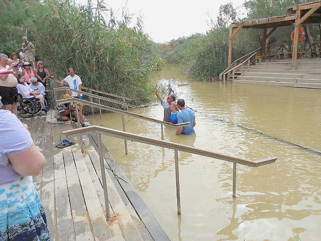 Jesus's baptismal site in Jordan river