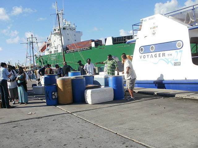Unloading the barrels