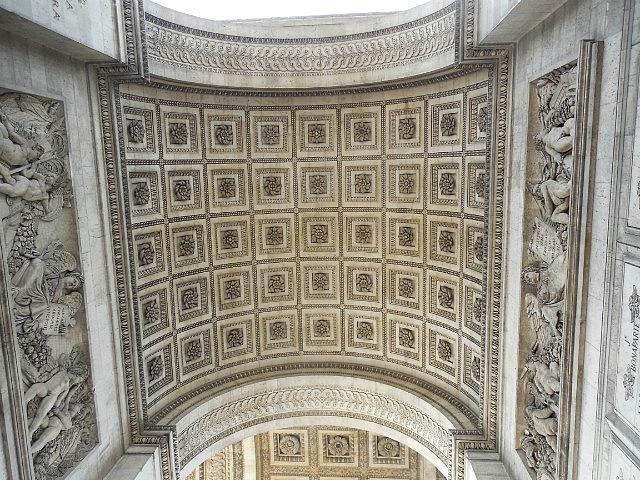 Ceiling of Arc de Triomphe