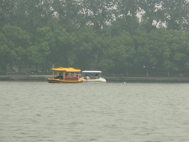 Boats on Nanjing Lake