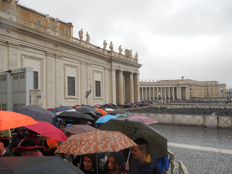 Line to get into St. Peter's