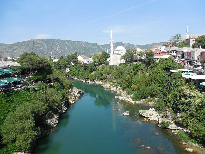 Mostar from the bridge