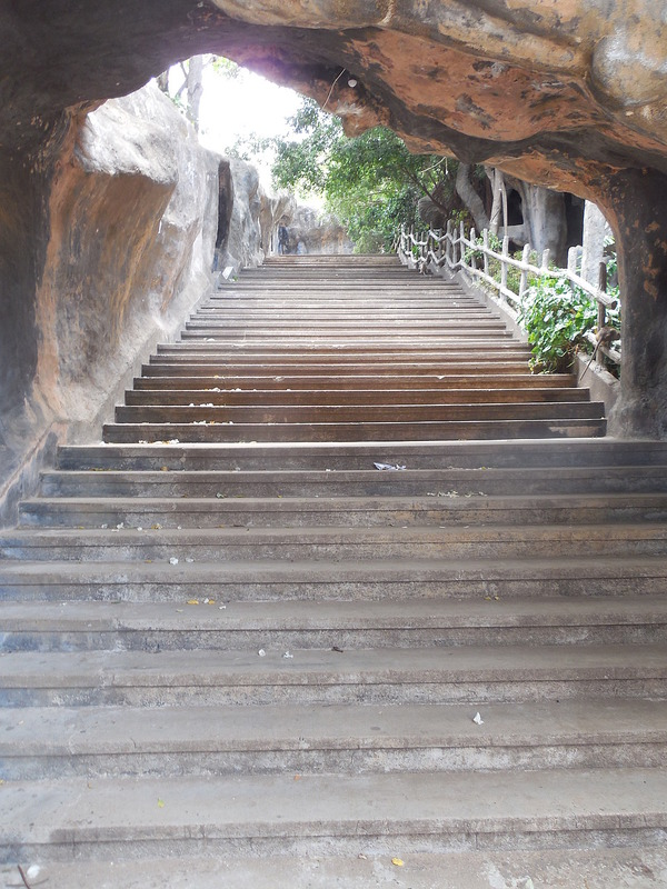 Beginning of stairs to cave temples