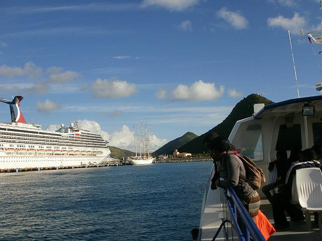 Approaching St. Maarten