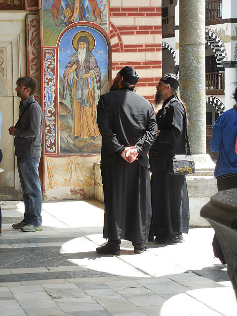 Monks at Monastery