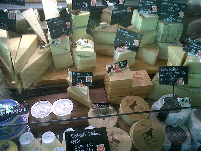 Cheeses in Market