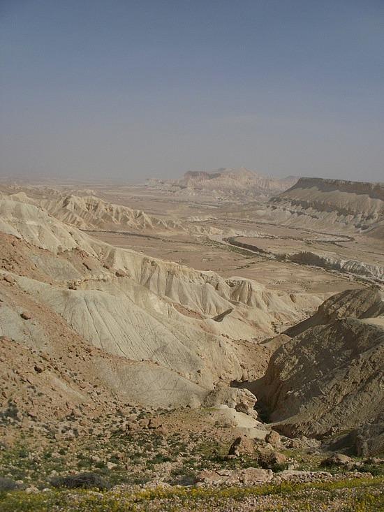 desert view from Ben Gurion's gravesite
