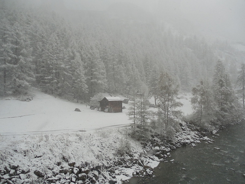 View on the way to Zermatt