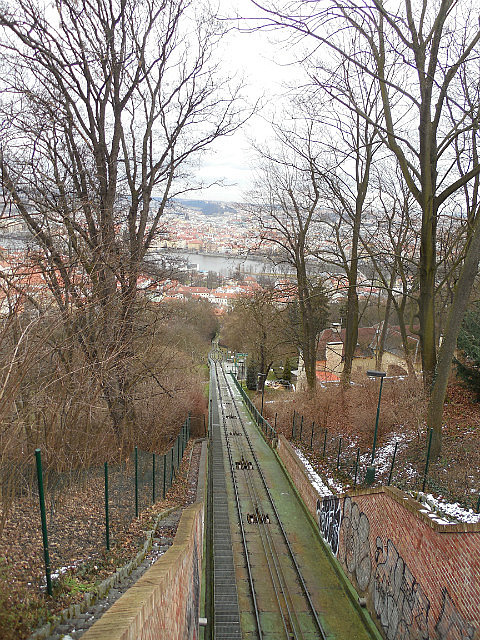 Winter view from funicular