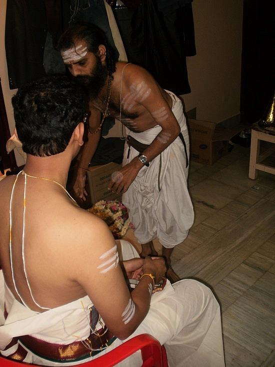 Priest prepping Rajah
