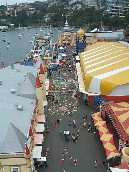 Luna park from the ferris wheel