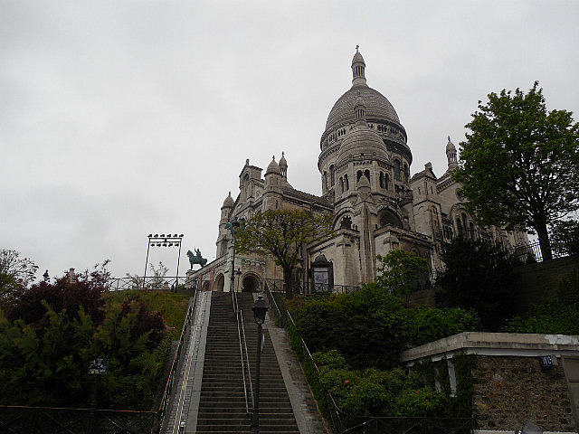 Approaching Sacre Coeur