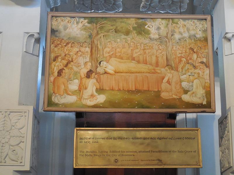 Buddha's life story panel