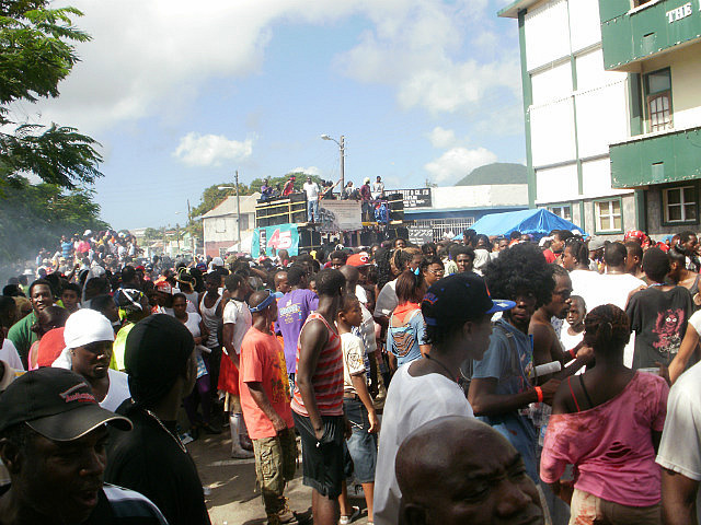 streets during Jouvert