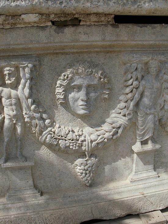 Roman-style sarcophagus