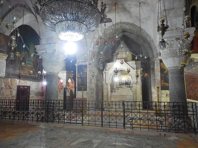 Inside Church of the Holy Sepulcher