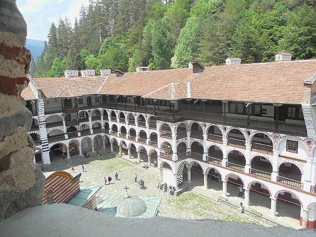 Rila Monastery from Tower