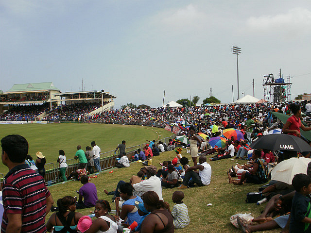 crowd at cricket game
