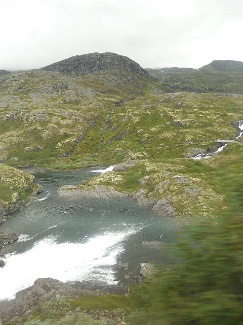 Train ride between Oslo and Myrdall
