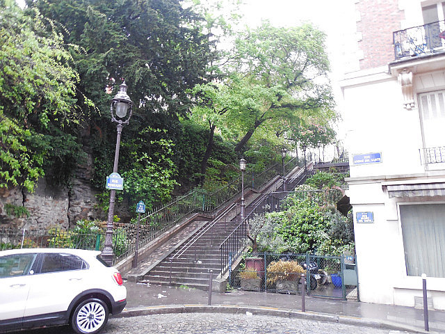 First stairs to Montmarte