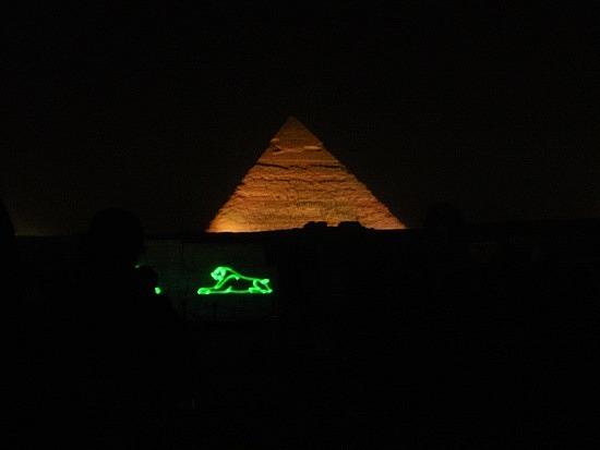 Pyramid sound and light show