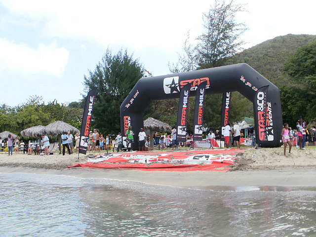 Finish Line at Oualie Beach