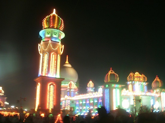 Jain temple at night