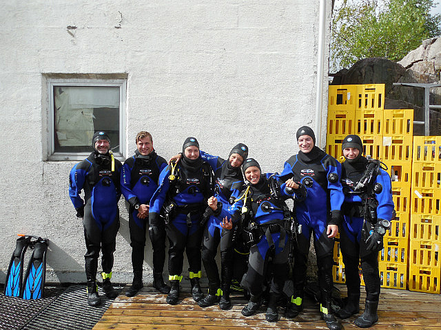 in dry suits