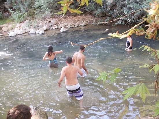 Playing in the stream