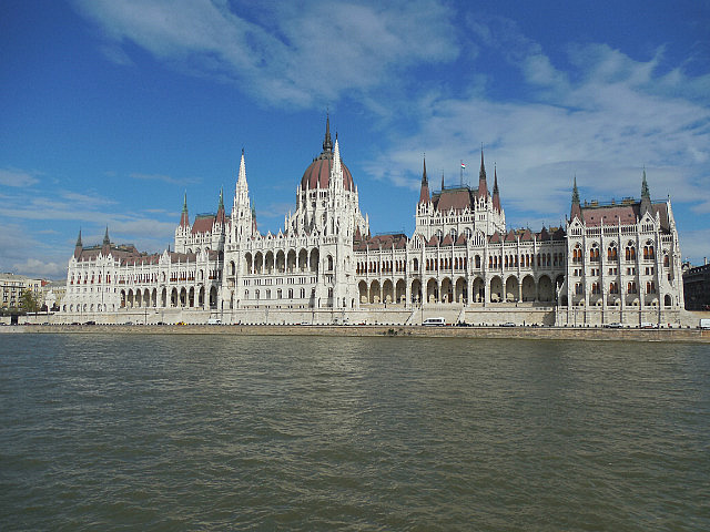 Parliament from boat on the Danube