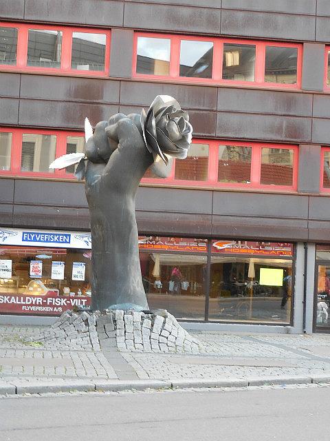interesting statue in Oslo