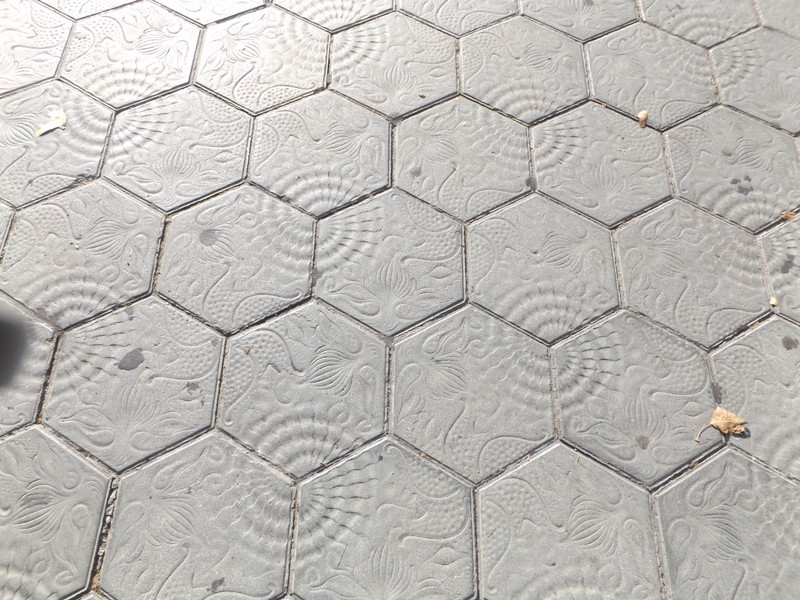 Gaudi-designed sidewalk stones