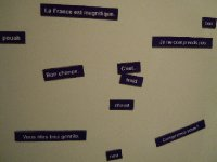 French magnetic poetry
