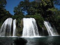 Jungle waterfall in Chiapas