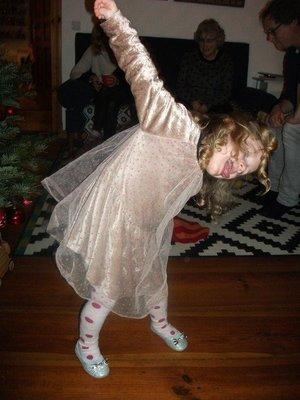 Alva dancing in new shoes