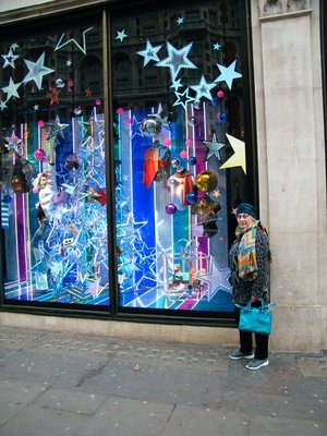 Christmas window at Harvey Nichols