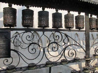 Prayer wheels, Kathmandu