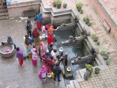 Washing clothes in Kathmandu