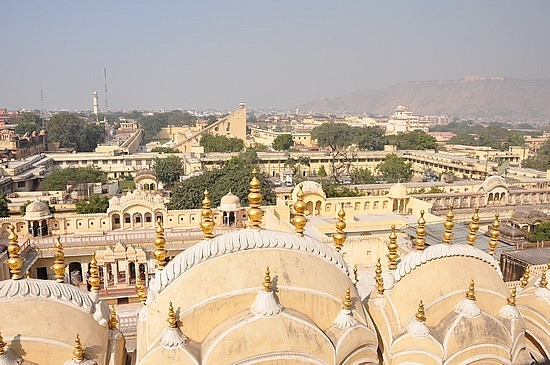 The yellow royal city in pink city