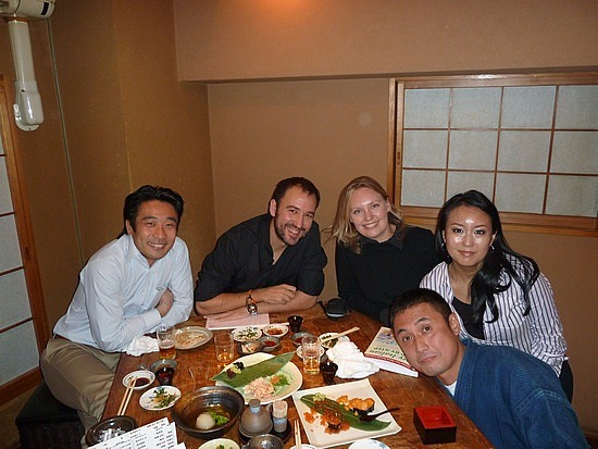 Dinner with Masami and Catherine