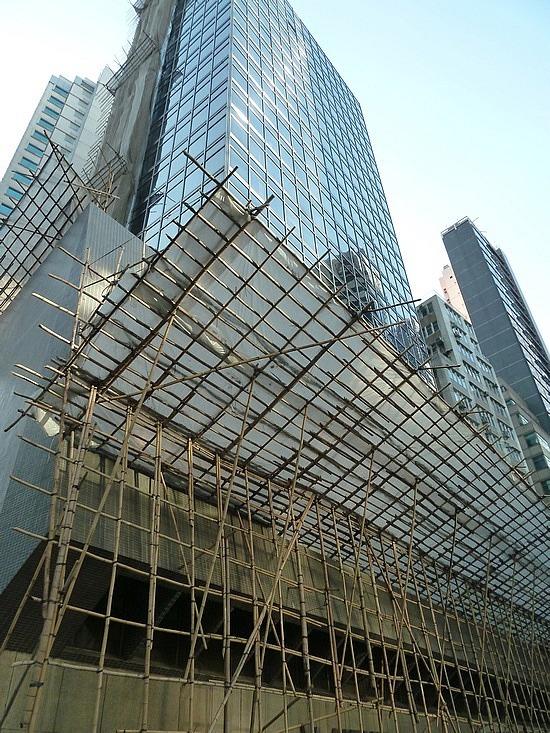 Modern buildings  vs bamboo