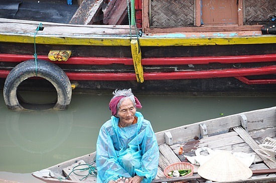 Old fishing lady