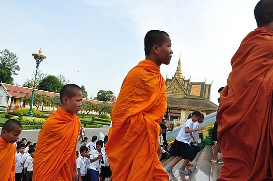 Monks and kids